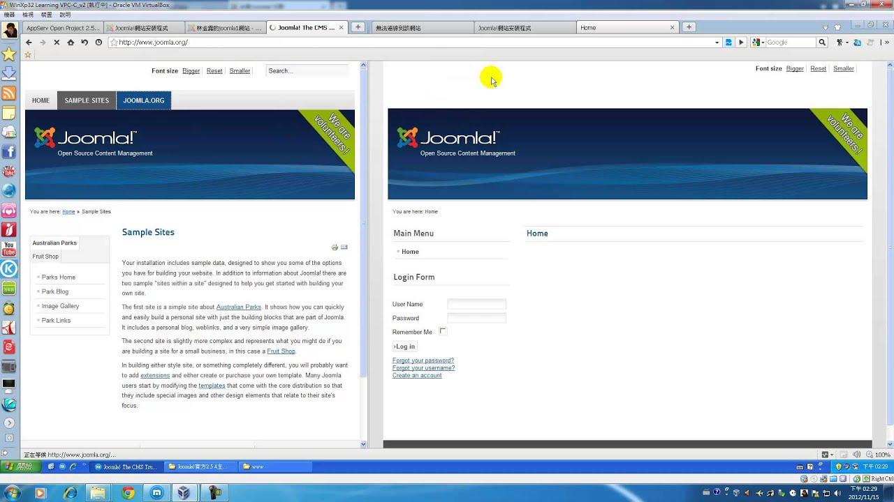 Joomla快速架站軟體在本地端Appserv安裝流程示範教學 - YouTube