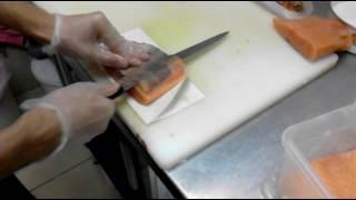 нарезка рыбы