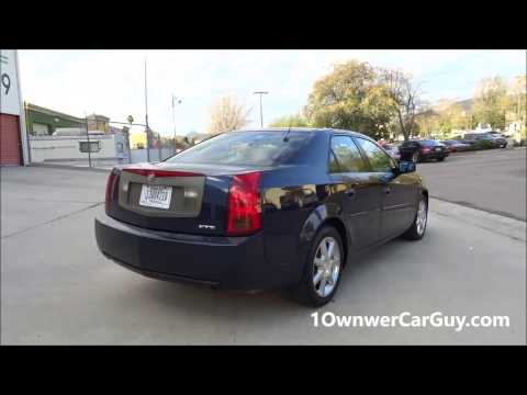Buy a Used Cadillac CTS Sedan Interior ~ 1 Owner Car Review $3500