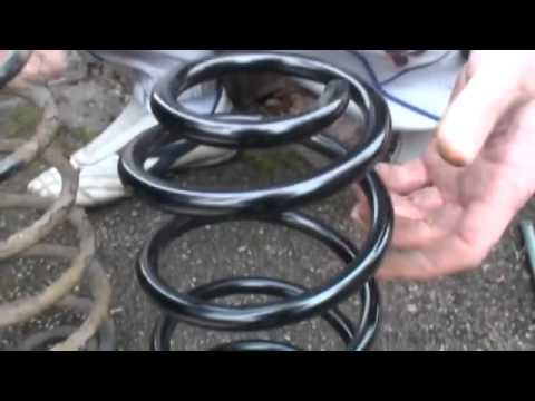 Toyota Yaris Rear Spring Replace Youtube
