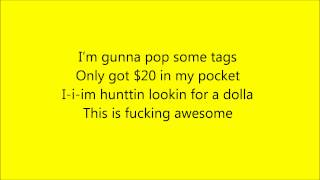 MACKLEMORE - Thrift Shop [Lyrics]