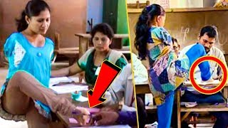 காலால் ஓட்டு போட்ட பெண் | Sabita Monnis Gets Inked On Leg's Index Finger | Lok Sabha Election
