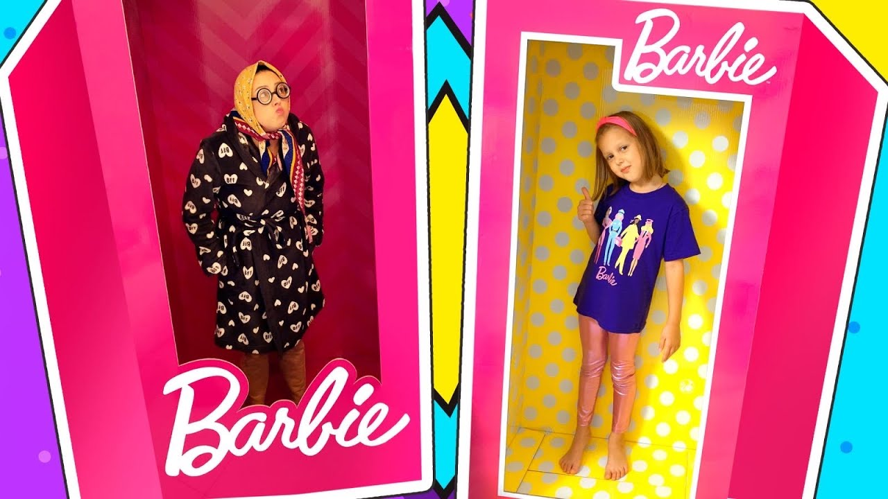 ГИГАНТСКИЕ Волшебные Коробки Барби! Как вся семья Амельки стала Куклами!