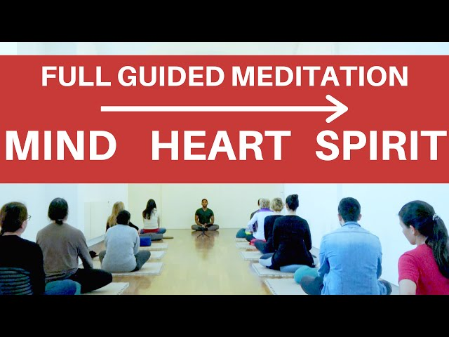 Full Guided Meditation for Head Heart Spirit Awareness | 20 min Wisdom Talk + 30 min Meditation