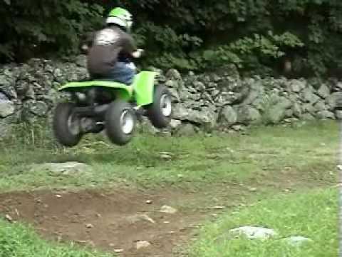 Kawasaki KFX 80 Big Air - YouTube
