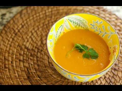 Pureed Kabocha Squash & Sweet Potato Red Curry Soup | @cooksmarts ...