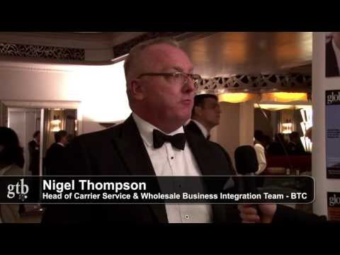 Nigel Thompson of BTC at the Global Telecoms Business Innovation Awards 2013