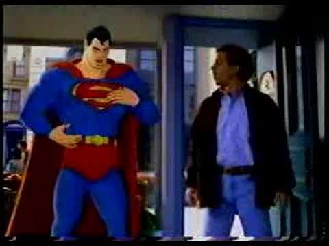 American Express card commercial with Superman and Seinfeld