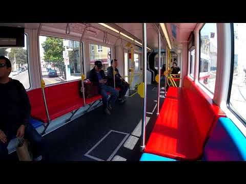 SFMTA New LRV4 on J Church | Full Ride from Embarcadero Station to Ocean Avenue