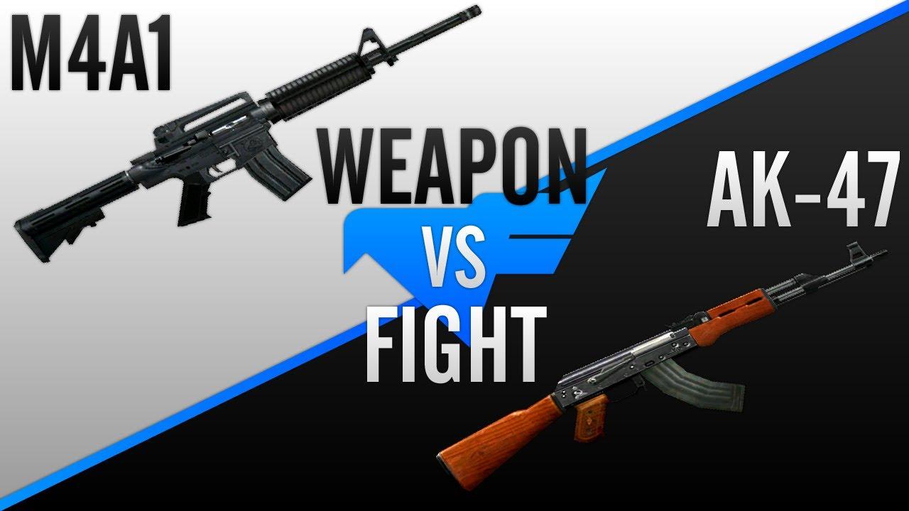 [CF] Weapon Fight: M4A1 vs AK-47 - YouTube