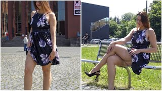 BACKLESS DRESS, STOCKINGS and HIGH HEELS - Romantic Look   Kats little world