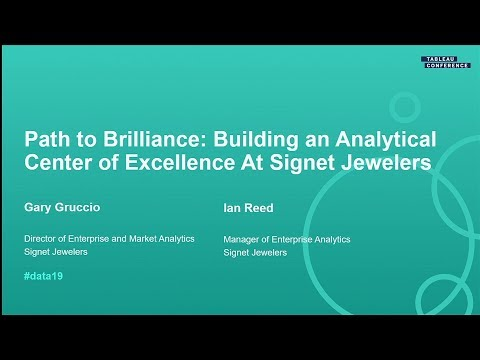 Signet Jewelers: Path To Brilliance, Building An Analytical Center Of Excellence