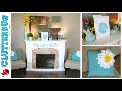 Decorate for Spring and Easter with Me - Dollar Tree Decor Ideas