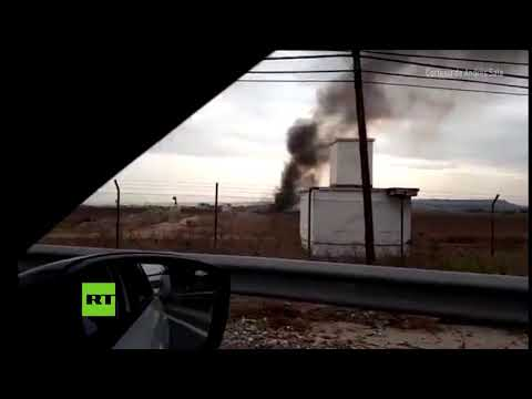 PRIMERAS IMÁGENES: Un avión militar F-18 se estrella en Torrejón de Ardoz