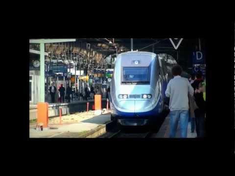 Von Frankfurt HBF nach Marseille St. Charles Jungfernfahrt: Ausfahrt des TGV-duplex 23.03.2012