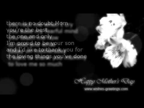 happy mothers day poems short wishes and greetings youtube