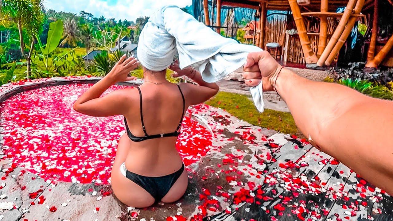 Дом твоей мечты за 180$ на Бали. Бассейн из цветов. Балийская сказка