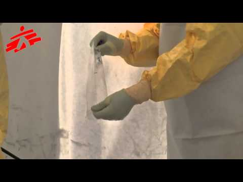 EBOLA PRACTICAL   Blood drawing   Prise de sang hd