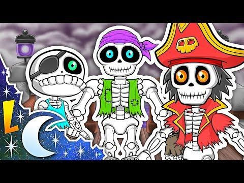 Las Vocales | Los Piratas Esqueletos | A E I O U | Canciones Infantiles | Videos Educativos