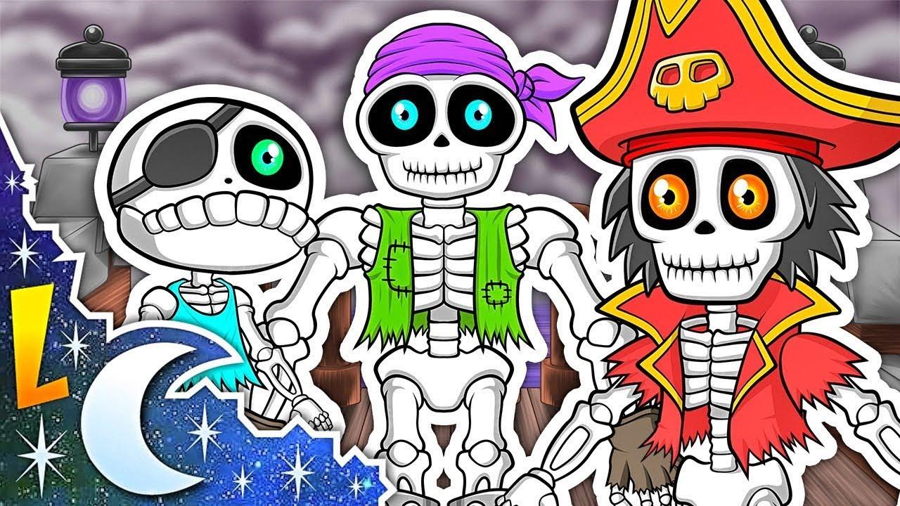 Las Vocales Los Piratas Esqueletos A E I O U Canciones