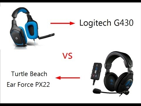 Testvideo Logitech G430 Vs Turtle Beach Ear Force PX22 [Deutsch] [HD]