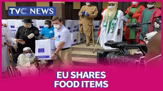 EU shares food items to vulnerable people