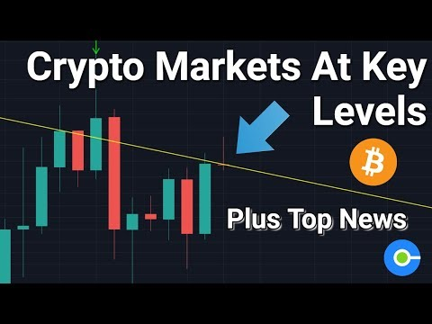 Cryptocurrency Markets At Key Levels (Plus Some News)