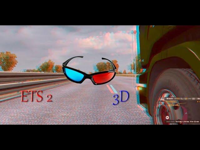 Euro Truck Simulator 2 3D Azul e Vermelho