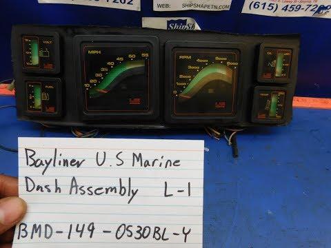 FOR SALE - Bayliner U.S Marine Dash  Gauge Assembly $149.99 L-1