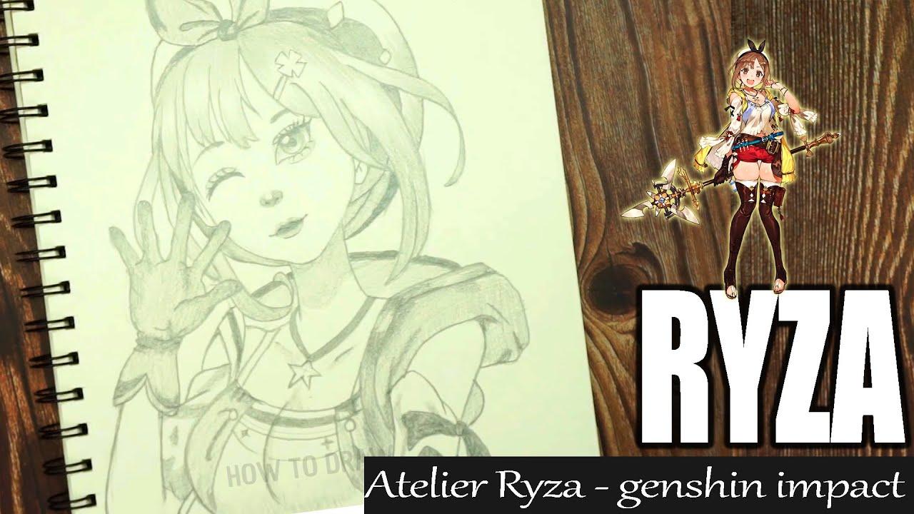 Drawing Ryza || Genshin impact - An Art Minute || How to draw