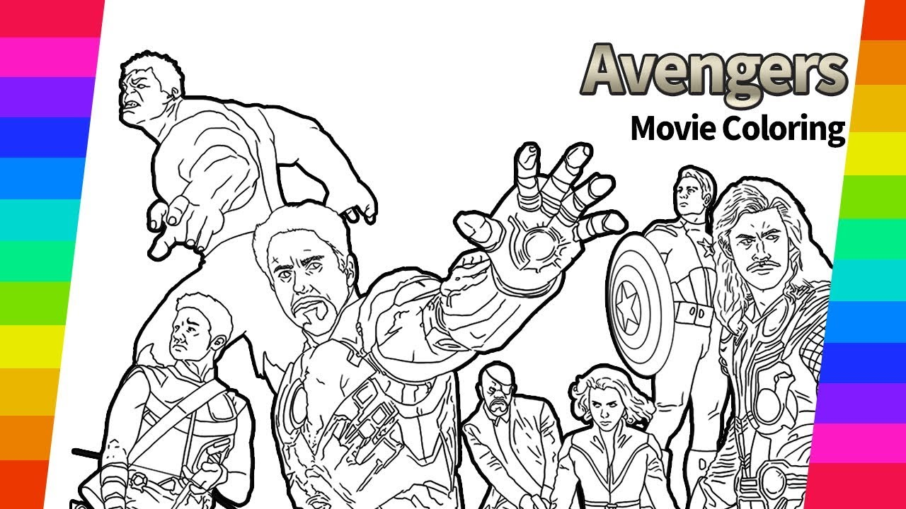 Marvel Avengers Movie Coloring Hulk Iron Man How To Draw Drawing And Coloring Pages Youtube