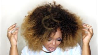 Most Natural Afro Ever! Aliexpess Kinky Curly |queen Berry Hair