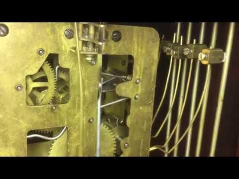 Waterbury triple-decker chiming clock