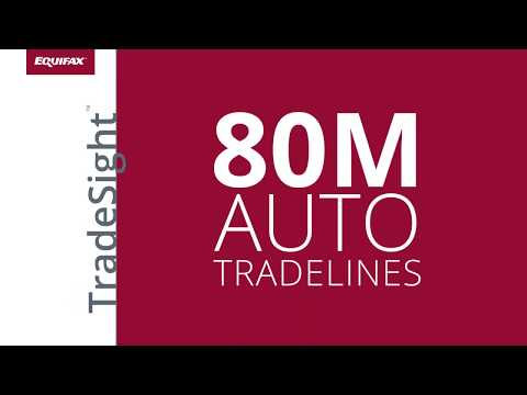 Equifax TradeSight(TM) for auto lenders