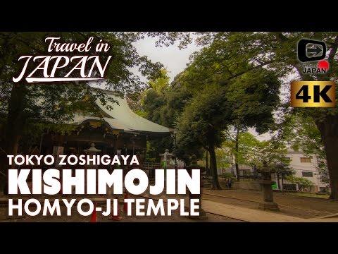 4K Travel in Japan | Kishimojin Homyo-ji Temple | Zoshigaya Tokyo | 東京・雑司ヶ谷