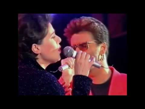 Queen + George Michael & Lisa Stansfield - These Are The Days Of Our Lives (different camera angle)