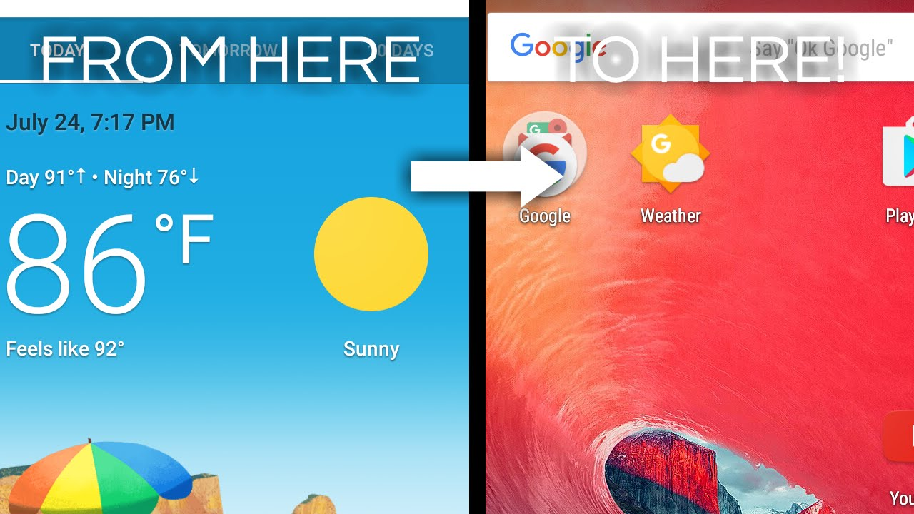 How To Add Google Weather To Your Home Screen!