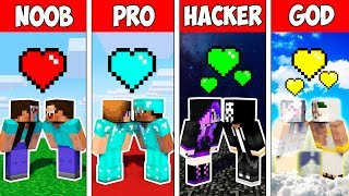 Minecraft NOOB vs PRO vs HACKER vs GOD : LOVE STORY in Minecraft ! Animation