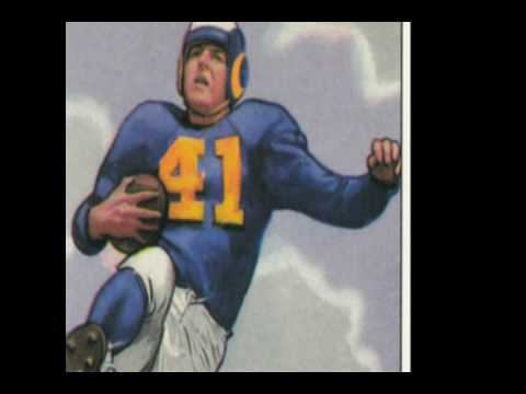 1950 Prominent Football Players On Bowman Cards