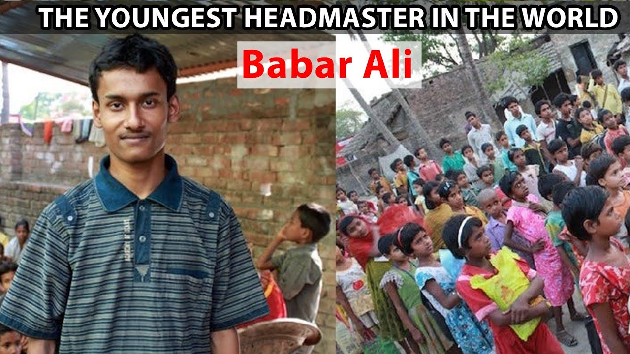 The youngest Headmaster in the World - Babar Ali | Unseen facts in India | UFI | Facts |