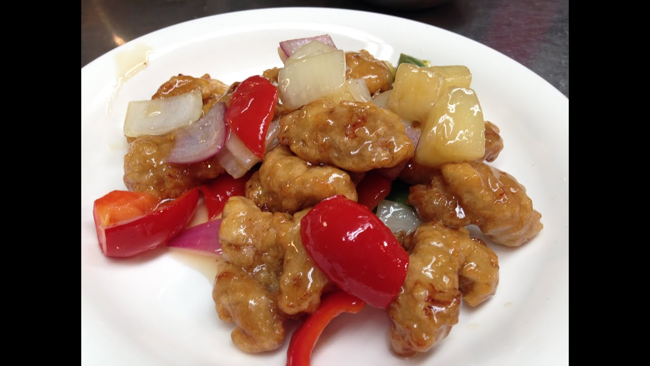 Chinese Sweet and Sour Chicken Recipe 咕咾肉甜酸雞by CiCi Li - YouTube