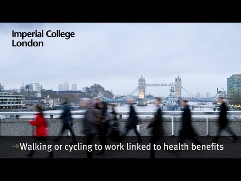 Walking or cycling to work linked to health benefits