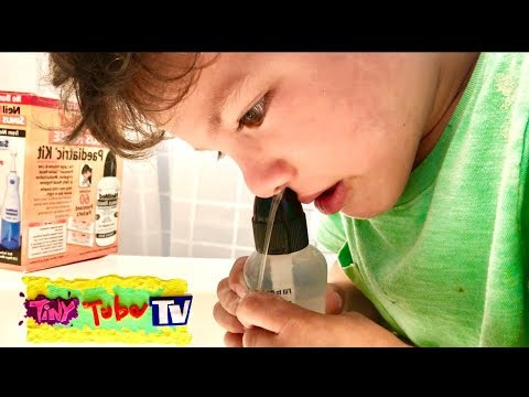 Niel Med Sinus Rinse for kids!  Stuffy Nose, Cold and Allergies Remedy