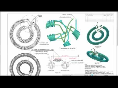 🐝Keshe Magrav Generator Verdrahtung der Spulen, schematische ...