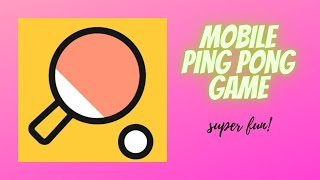 Super mobile sport game!  ping p๐ng game  2020 new mobile game