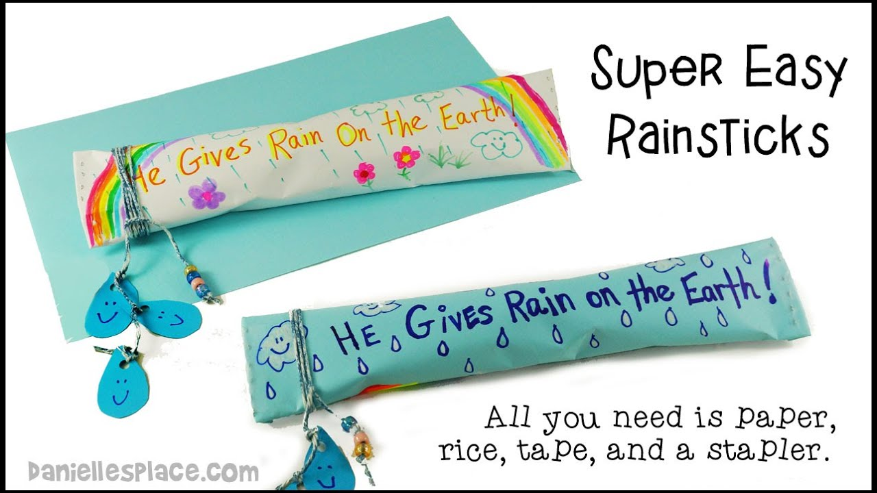 Preschool rain stick craft - Quick And Easy Rainstick Craft