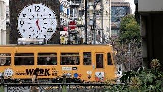 岡山電気軌道 西川緑道公園停留場付近 Okayama Electric Tramway Nishigawa ryokudokouen Station (2019.3)