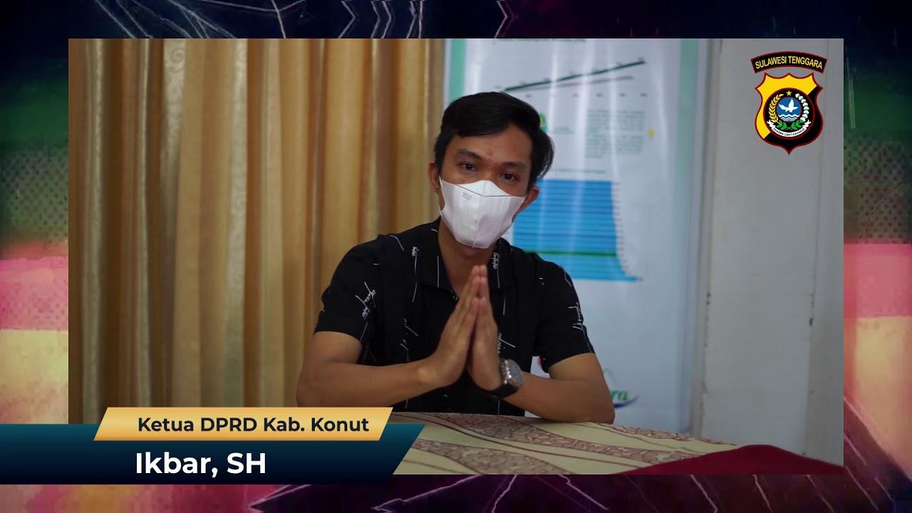 Ucapan HUT Ke-1  Polres Konawe Utara Ikbar, SH - Ketua DPRD Kab. Konut