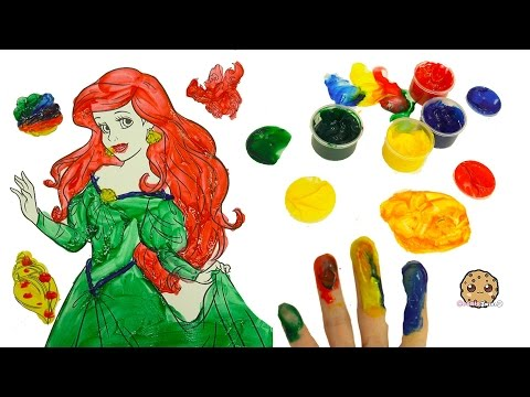 Finger Painting The Little Mermaid Disney Princess with Paint Pots - Dollar Tree Art Video
