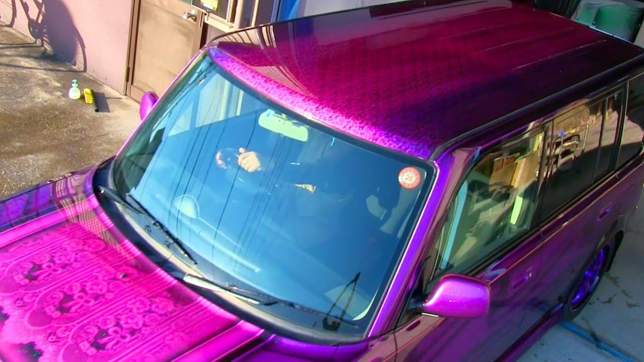 Custom Car Paint Jobs >> キャンディーピンクとキャンディーバイオレットでカスタムペイント・キャンディー塗装 (bB総集編) - YouTube